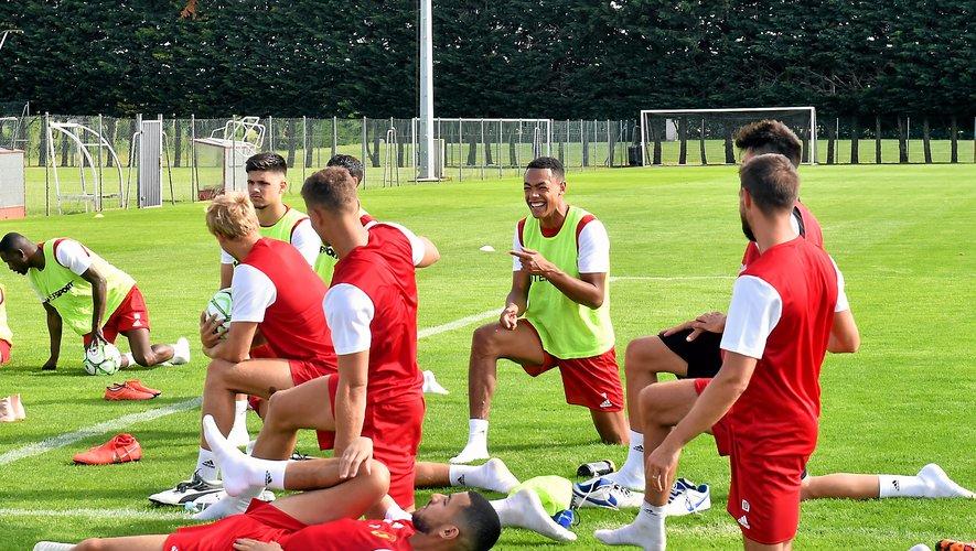 Yohan Roche, tout sourire hier lors de la reprise de l'entraînement.