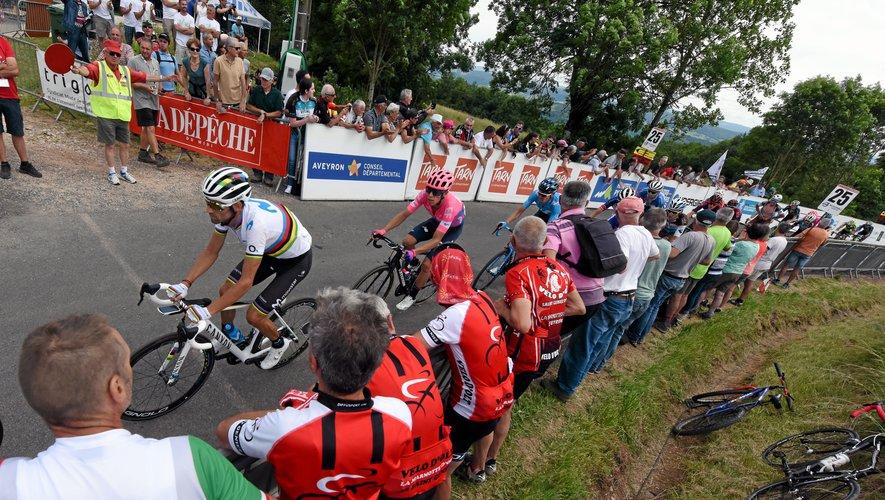 Alejandro Valverde, avec le maillot arc-en-ciel de champion du monde sur les épaules, a décroché la première victoire de l'épreuve cycliste occitane.