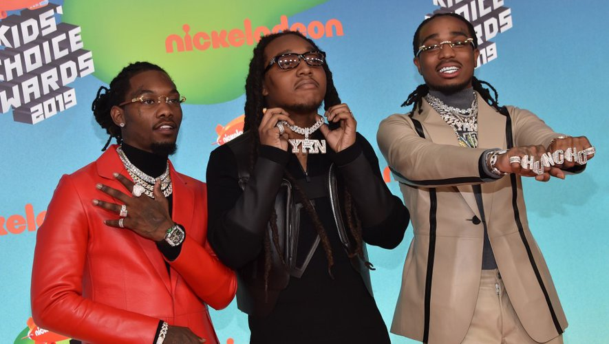 Takeoff, Offset et Quavo du groupe de rap Migos au Nickelodeon Kids' Choice Awards le 23 mars 2019 à Los Angeles