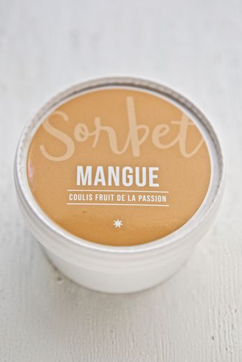 Le sorbet mangue et coulis fruit de la passion de Christophe Michalak