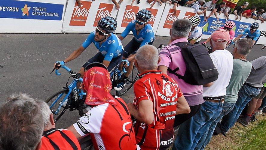 Les coéquipiers de Valverde ont imprimé un rythme élevé lors des deux montées de la côte d'Aubignac.