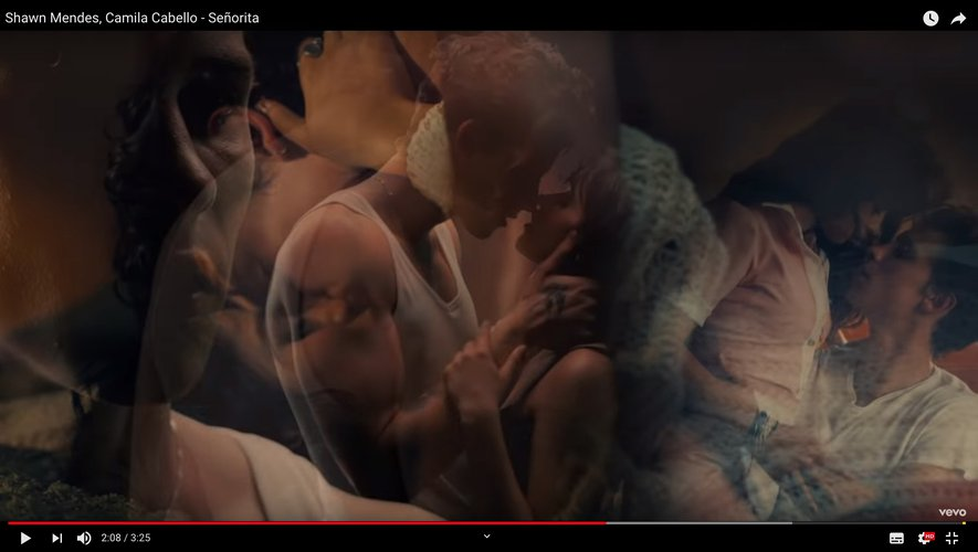"Shawn Mendes et Camila Cabello dans le clip de ""Señorita""."