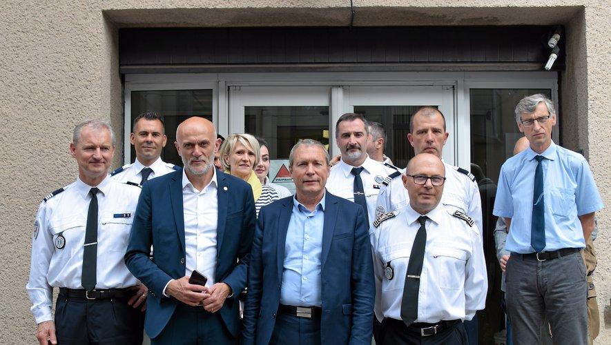 Jean-Michel Fauvergue est notamment allé à la rencontre des policiers.