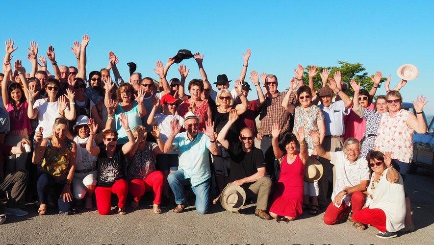 Les participants à cette sortie dans le Sud Aveyron.