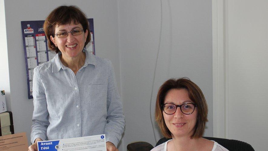 Aurélie Costes et Corinne Tamburrello, les hôtesses d'accueil du CCAS.