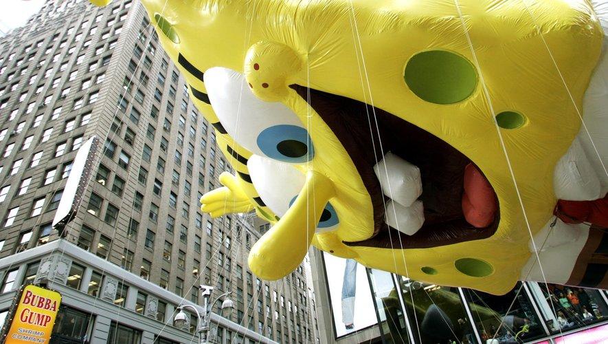 Bob L'Eponge à la parade Macy's de Thanksgiving en 2004 à New York