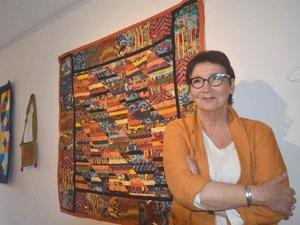 Nicole Plenecassagne expose ses créations,