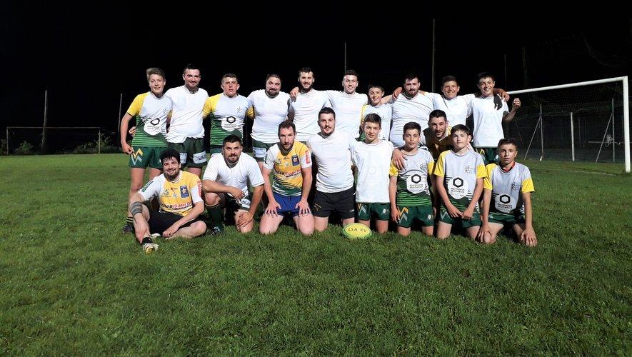 Une équipe seniors et une autre de l'école de rugby ont participé au tournoi inter-association organisé par Pareloup Céor.