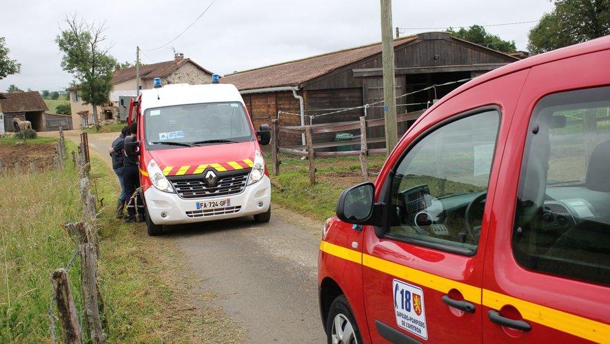 Pompiers et hélicoptère ont dû intervenir.