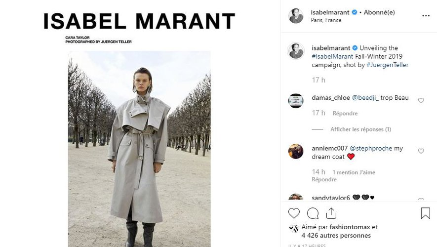 Isabel Marant présente sa campagne automne-hiver 2019, immortalisée par Juergen Teller.