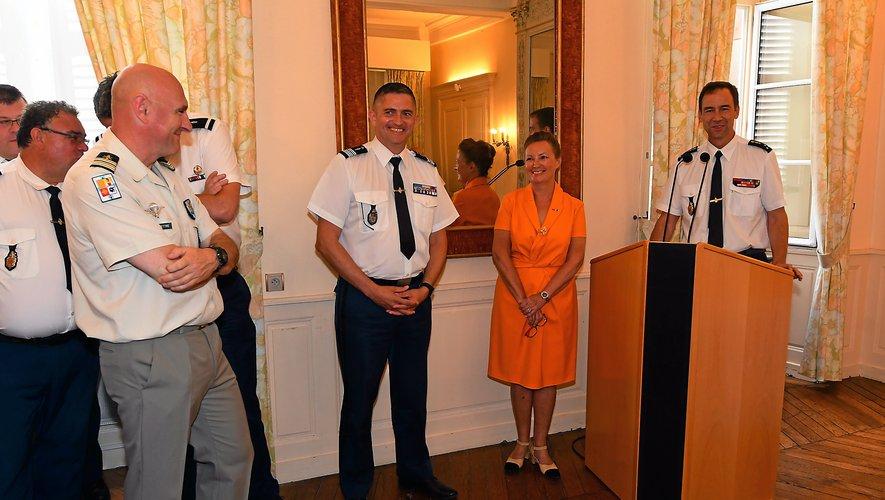 Les qualités du colonel Erwan Le Floc'h ont été saluées par la préfète de La Robertie et le général Clouzot.