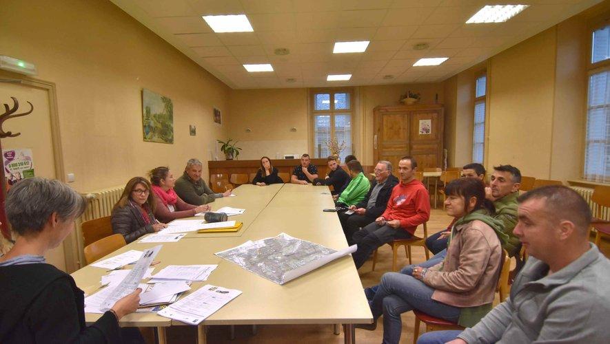 Lors de l'une des réunions de préparation du prochain trail.