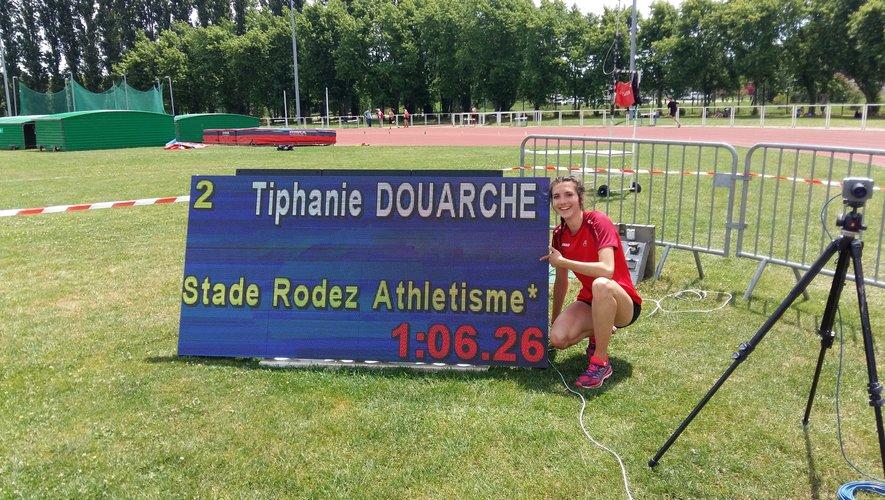Une très belle performance pour la cadette Tiphanie Douarche qui a signé 1'06''26 sur le 400 mètres haies à Toulouse.