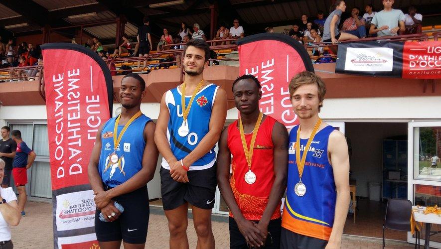 La médaille d'argent pour le junior Bakary Sacko sur le 100 mètres.