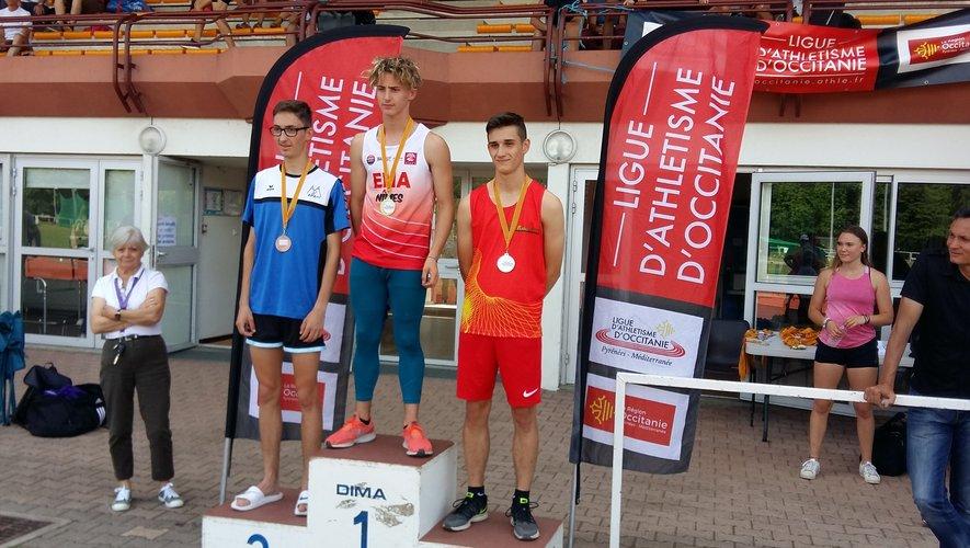 William Souladie  a bouclé le tour de piste à la troisième place.