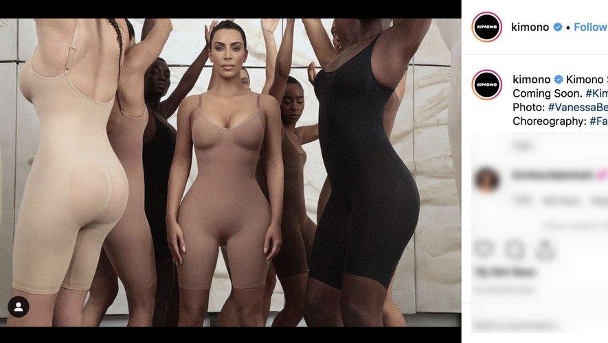 Compte Instagram de la marque Kimono avec Kim Kardashian West