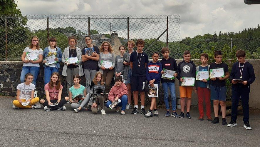 Les élèves récompensés au concours Archimède.