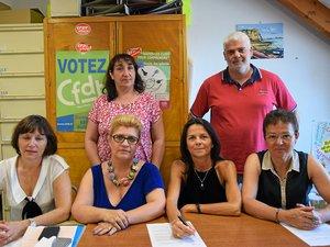 Le nouveau bureau de la CFDT Santé-Sociaux Aveyron.