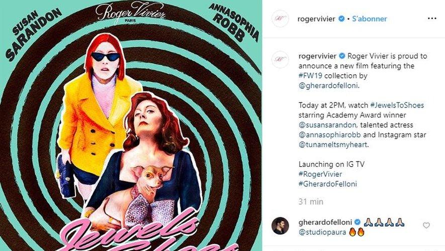 Roger Vivier s'apprête à dévoiler un court métrage avec AnnaSophia Robb et Susan Sarandon.