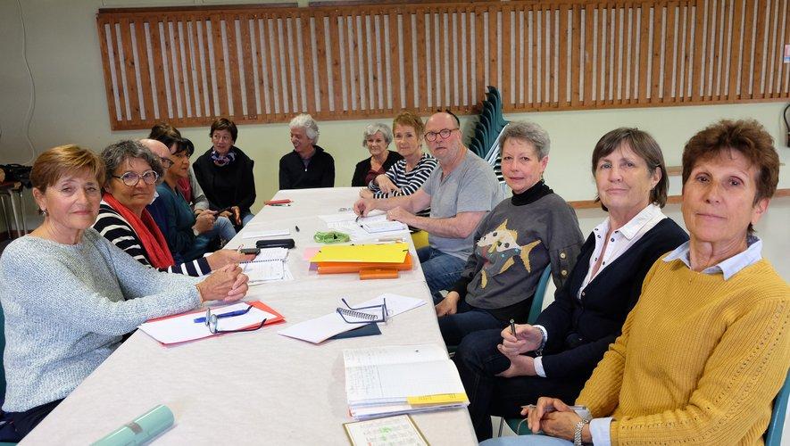 Une équipe motivée et enthousiaste procédait à Concourès à l'élaborationdu nouveau programme de l'association pour la saison 2019-2020