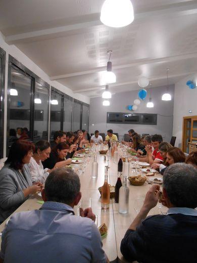 Les adhérents  se sont retrouvés autour d'une bonne table après l'assemblée générale.