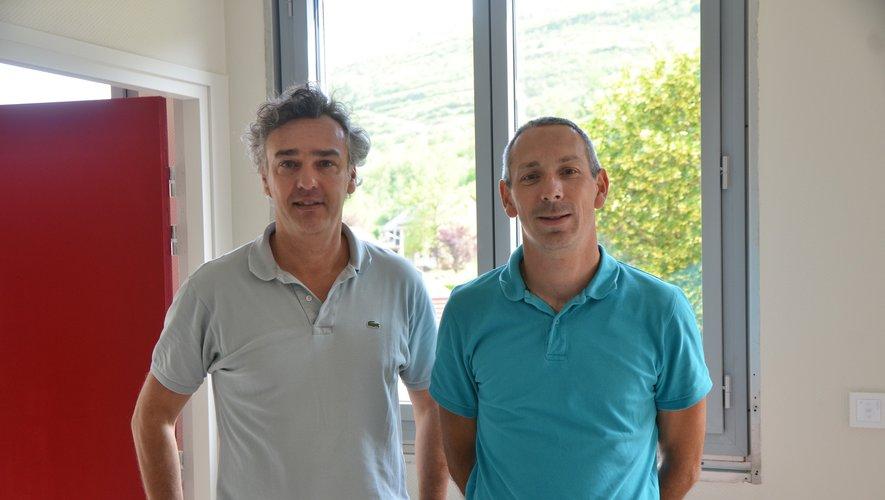 Visite du chantier en compagnie d'Emmanuel Knoll, gestionnaire  et Antoine de Zerbi, principal.