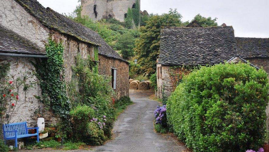 Vue du château de Roumégous.