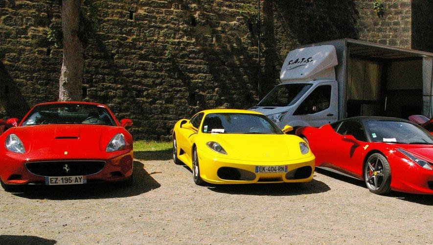 Les Ferrari du dimanche étaient de sortie.