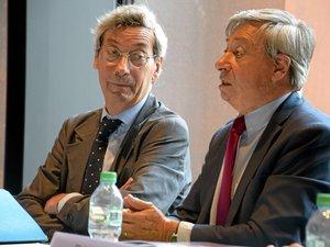 Alfred Pacquement, lundi, avec Étienne Guyot, préfet de région.