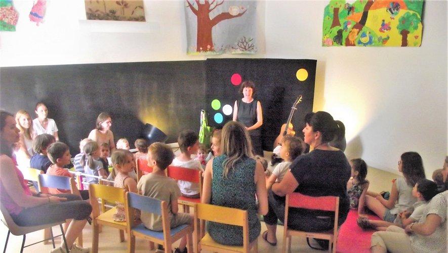 Pascale Chauvac a fait rêver son très jeune public.