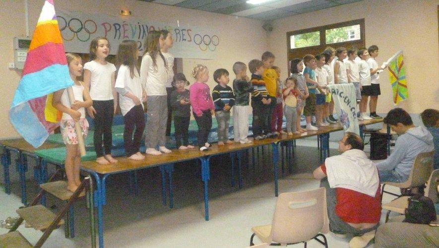 La soirée « olympique »avec les enfants de l'école.