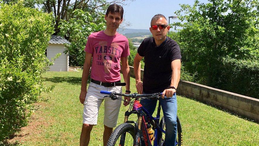 Vincent Saurel et Christophe Costes motivés.