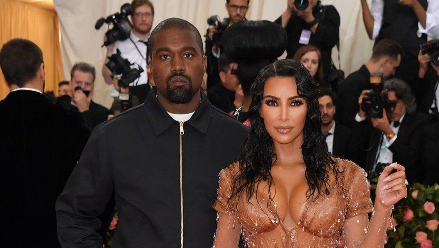 Kanye West et sa femme Kim Kardashian au Met Gala 2019 au Metropolitan Museum of Art, le 6 mai 2019 à New York