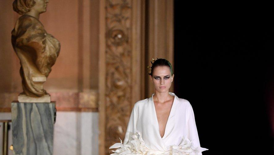 La robe de mariée de Stephane Rolland. Paris, le 2 juillet 2019.