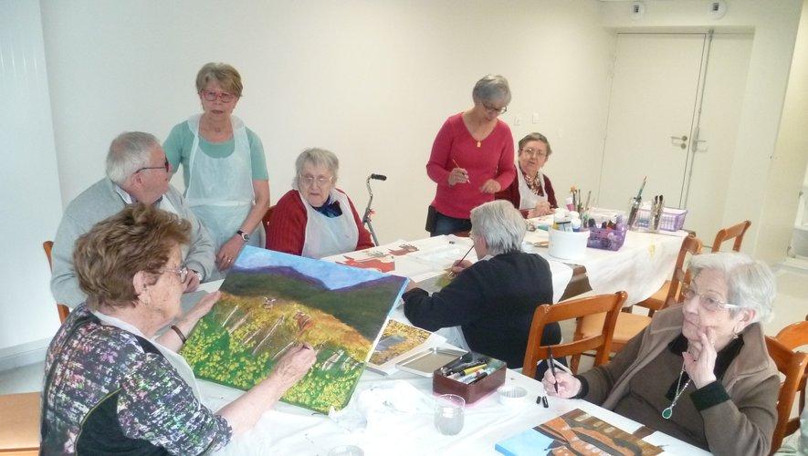 L'atelier peinture à Sainte-Anne.