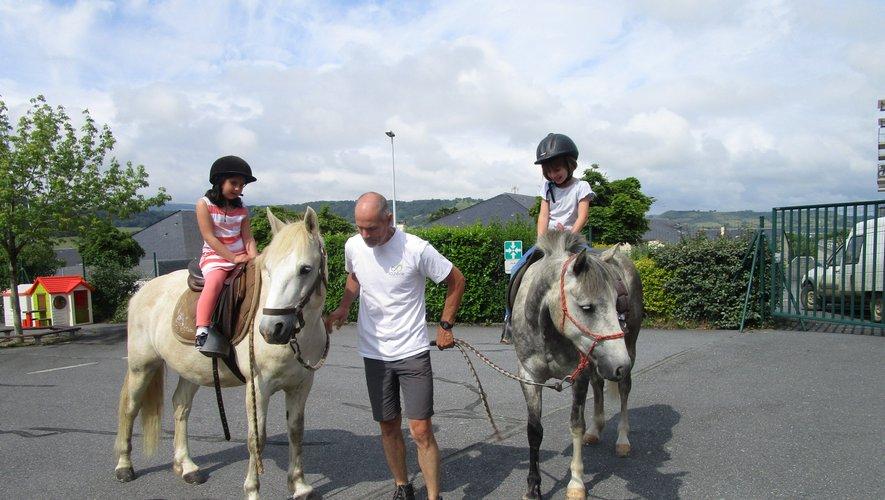 Quand les chevaux viennent à l'école, c'est vraiment super !