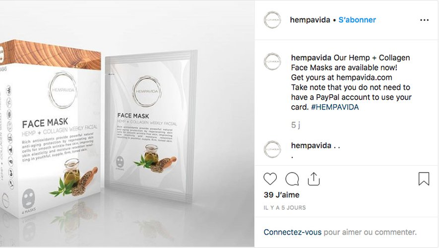 Masque Hempavida Hemp + Collagen