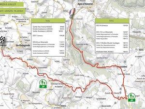 Un peu plus de 16 km figurent au programme de la spéciale du Lévezou,  qui reliera Agen-d'Aveyron et Sainte-Radegonde.