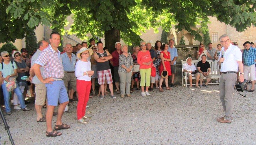 Gérald Harlin a accueilli les villageois.
