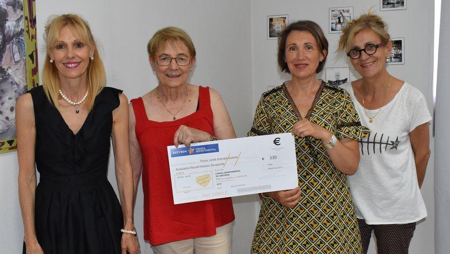 Un chèque de 330 € a été remis par le Département au CCAS.