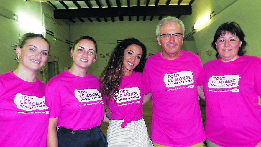 Emmanuelle Rivassoux (au centre) a été frappée par l'investissement des bénévoles de TLMC..