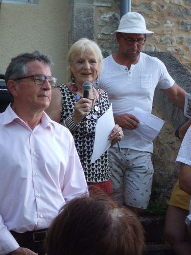 Lors du vernissage, Diana Winkfield a présenté son travail artistique
