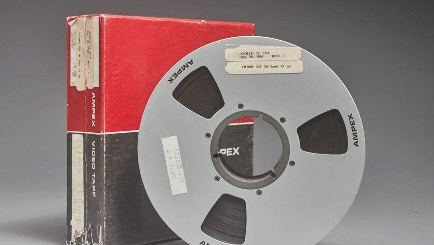 Les bandes vidéo originales ayant enregistré la mission Apollo 11 EVA en 1969