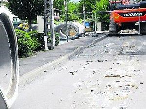 Le chantier de l'avenue Fondiès interrompu l'été