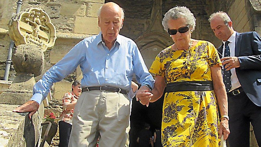 L'ancien Président Valéry Giscard-d'Estaing et son épouse, Anne-Aymone.