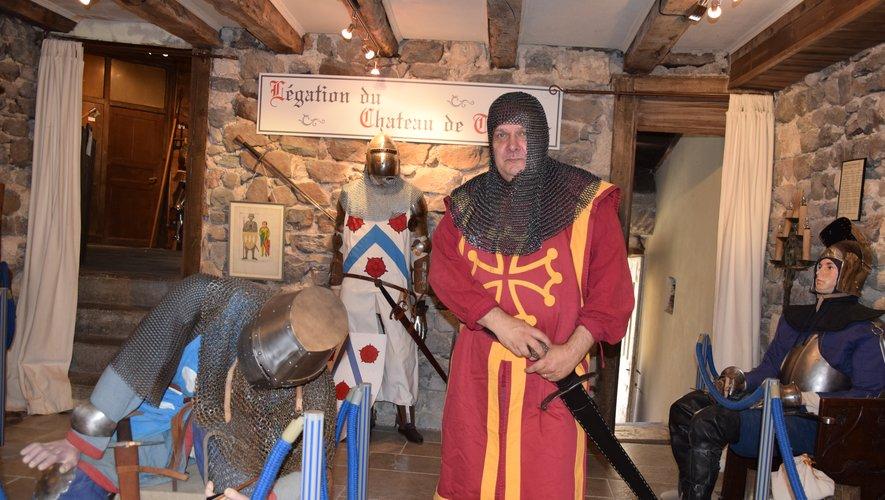 Capitaine Savaric anime la Maison de l'histoire du Carladez qui va s'agrandir pour accueillir les costumes.