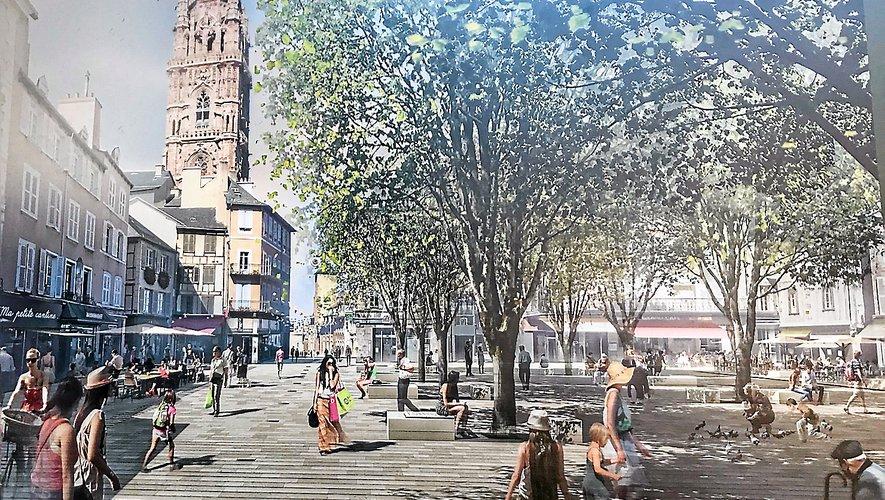 Le visuel de la future place de la Cité, devant être livrée d'ici la fin de l'année.