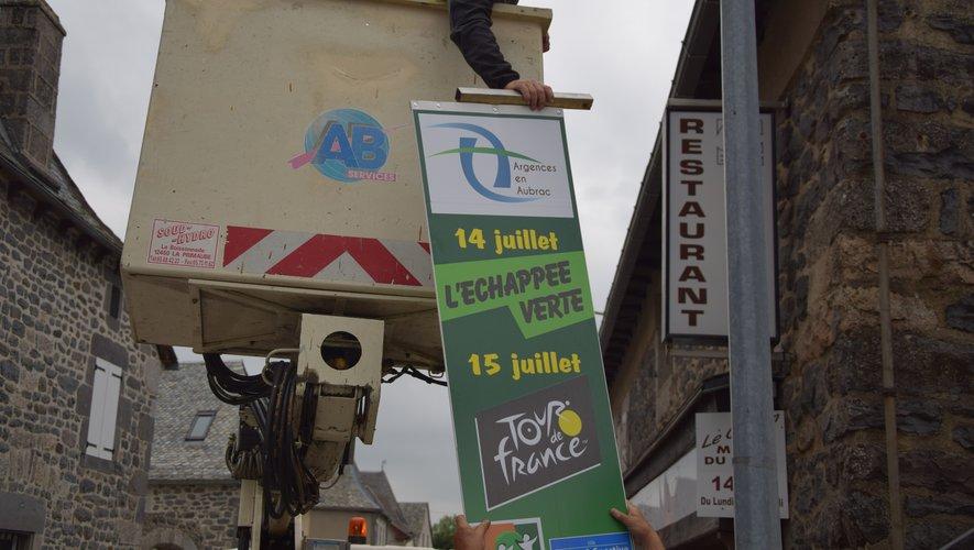 Aurélien Bordes, directeur des services techniques d'Argences-en-Aubrac, prend de la hauteur !