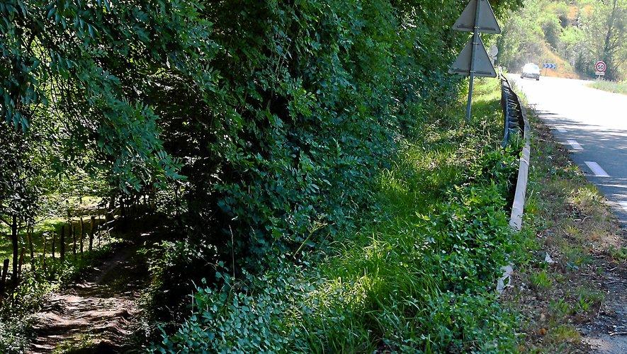 Le véhicule, avec les deux cadavres à son bord, a été retrouvé dans un fossé, le long de la RD840, peu avant l'entrée dans Valady.