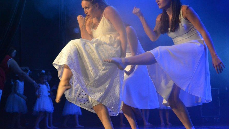 Camille, à gauche, a montrétout son talent.